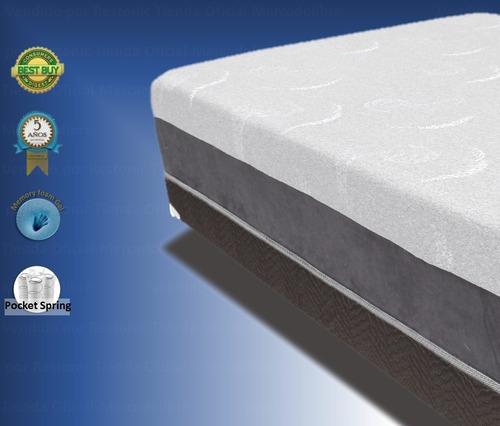 colchon memory foam gel cool king size restonic gel care