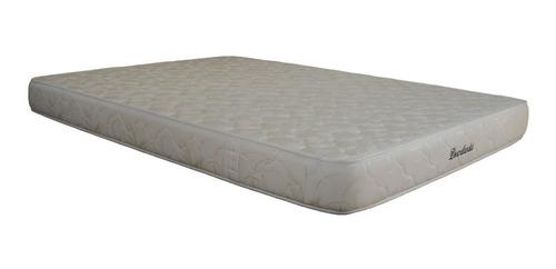 colchón mfx dormilandia semidoble+base cama entera+almohadas