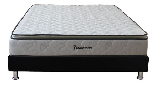 colchón niza dormilandia semidoble+base cama entera+almohada