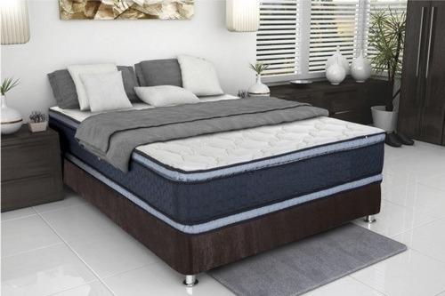 colchón ortopédico  encapsulado + base cama doble / 1 pillow