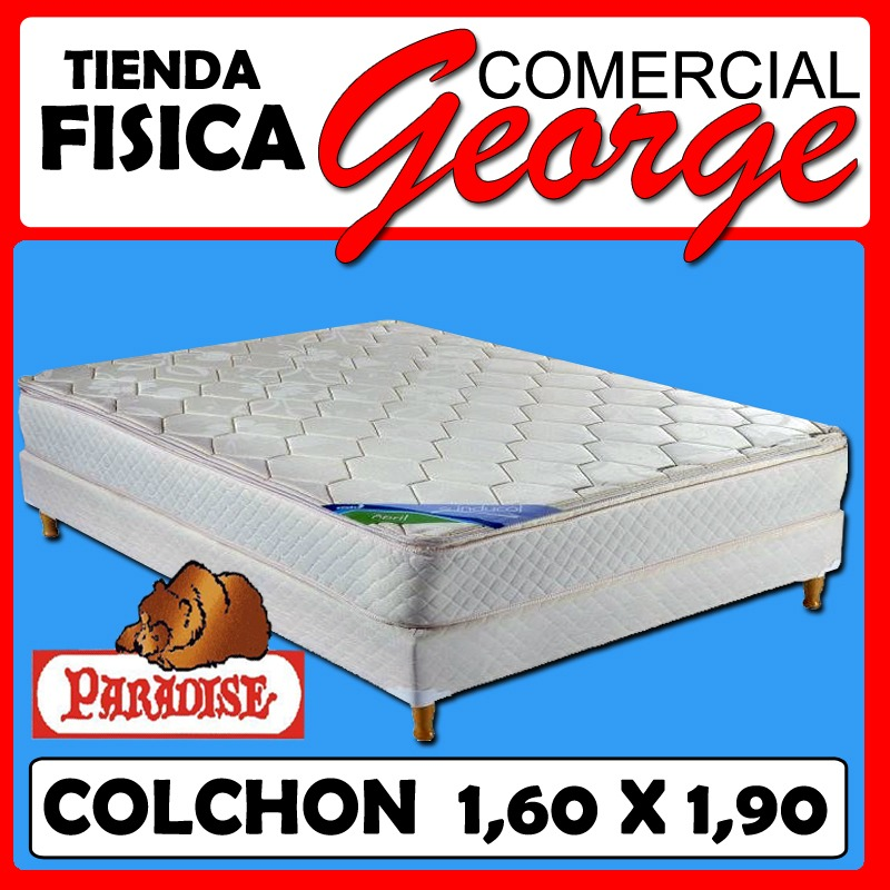 Colchon Ortopedico Paradise Queen Size 1,60 X 1,90 Mts 10 A - Bs ...