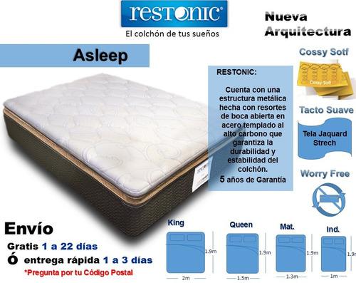 colchón para cama individual asleep envío gratis restonic