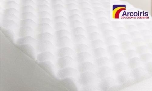 colchón para cuna infantil con babyfloat 120x60x12 arco iris