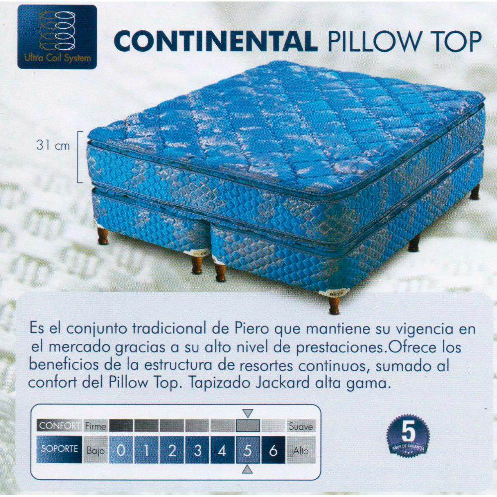 Colchon Piero Continental Pillow Top 1,40 X 1,90 - $ 8.788,00 en ...