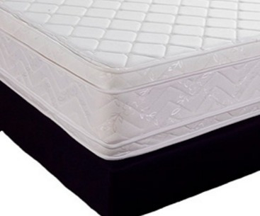 colchón pillow euro+regalo base cama 1.40x1.90
