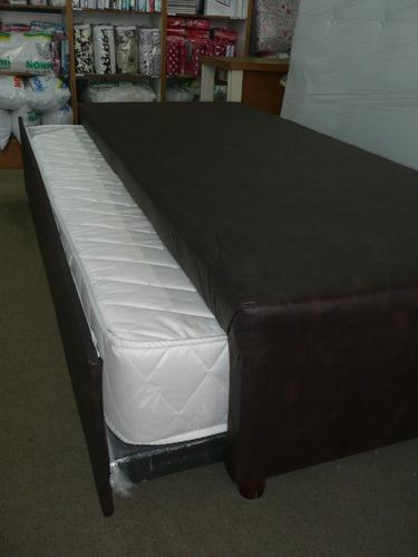 colchón plaza sommier