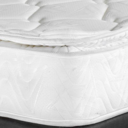colchón pullman ortopédico king + base cabecero lencería