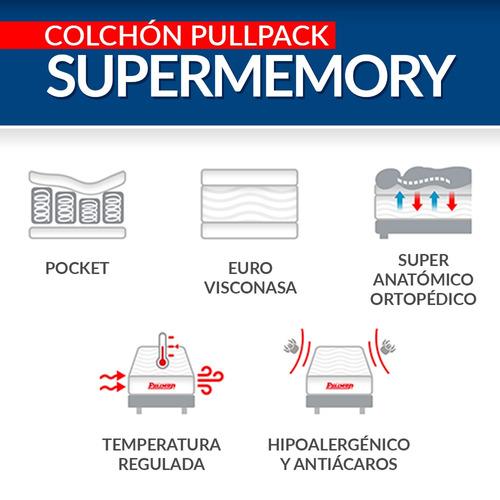 colchón pullman pullpack supermemory semidoble 120x190