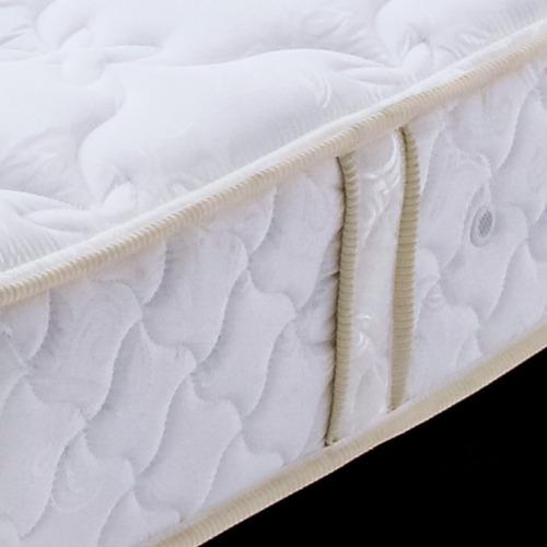 colchón resortado adonis 1.20 x 1.90 + base cama cafe
