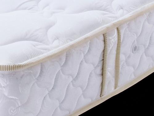 colchón resortado adonis 1.40 x 1.90 + base cama negra