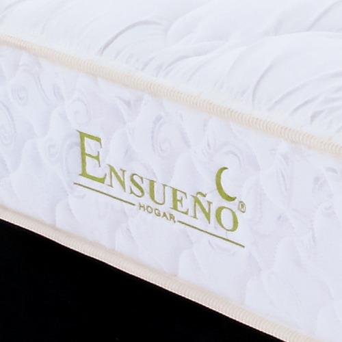 colchón resortado adonis 160 x 190 + basecama