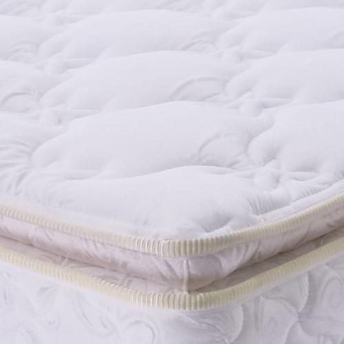 colchón resortado ilona doble pillow 1.20 x 1.90