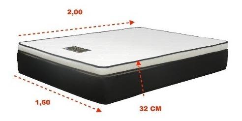 colchon resorte pocket king 160x200 manhatan - rc sueños