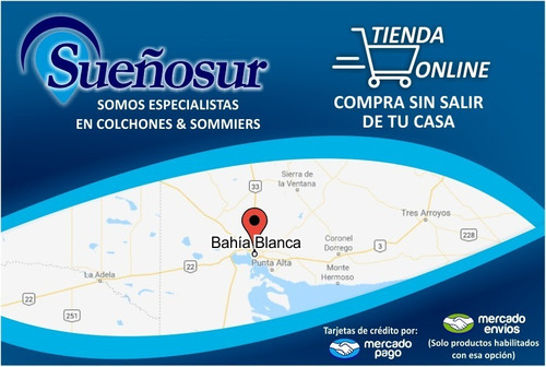 colchón resortes belmo belspring 1 - 2 plazas 140x190
