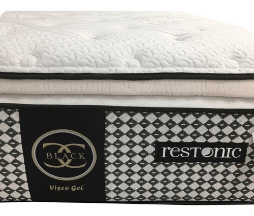 colchón restonic black king size con box