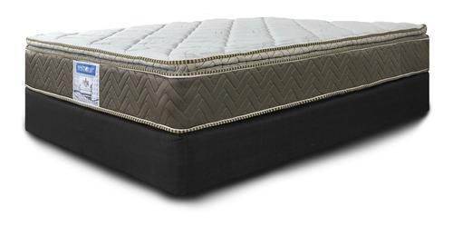colchón restonic queen size ortopedico + box envio gratis lg