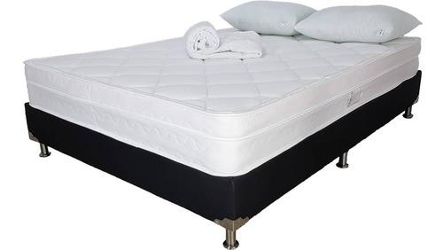 colchón salvación+base+lencería doble 140x190 (semi firme)