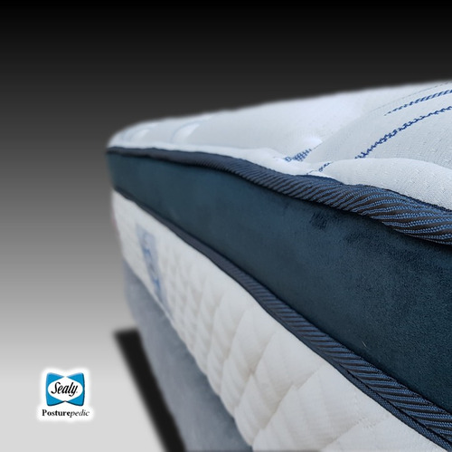 colchón sealy individual doha evolution + box + almohada
