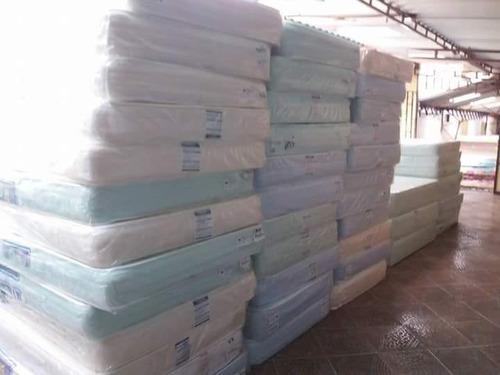 colchón semiortopedico + base cama 140x190 + 2 almohadas