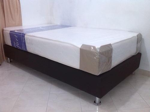 colchon semiortopedico+base-cama+ obsequio