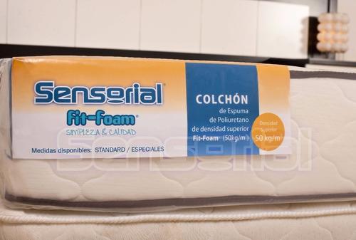 colchón sensorial fit memory viscoelástica 50 kg/m3 140x190