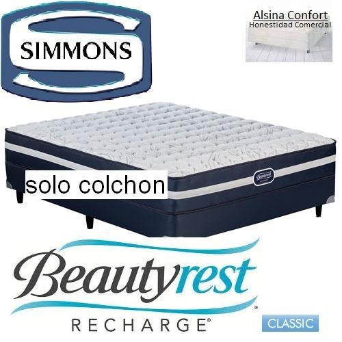 Colchon Simmons Beautyrrest Classic Resortes 80 X 190 1 Pl