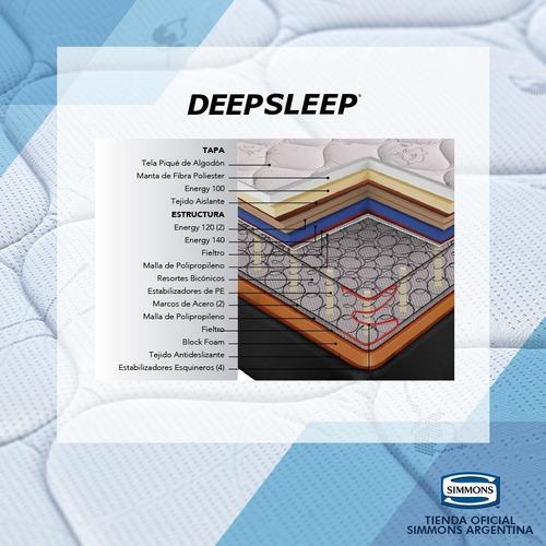 colchón simmons deepsleep 2 plazas 190x140