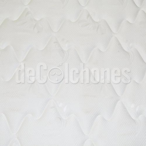 colchon + somier 2p inducol pocket firm 140x190 2 plazas