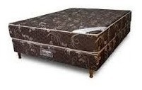colchon somier acuario 2 plazas + cubre cama + almohadas