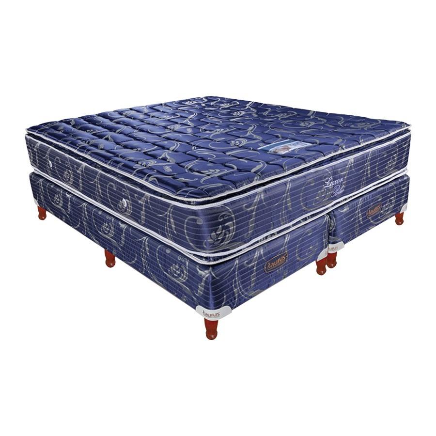 Colchón Somier Taurus Luxor Resorte 140x190 Pillow Beiro - $ 11.799 ...