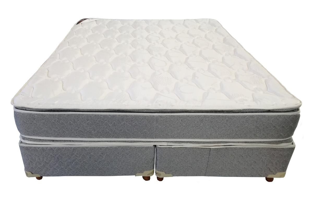 Colchon Sommier 2 ½ Plaza Somier 160x190 Pillow Combo Big 28