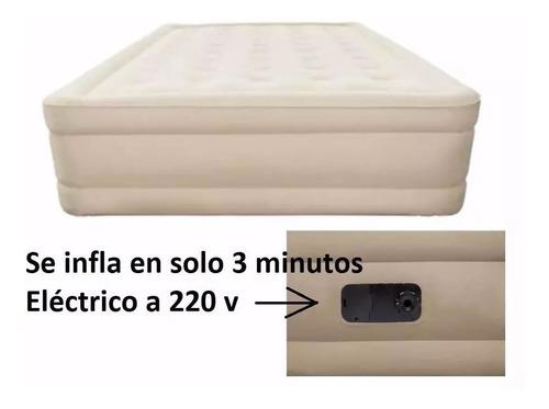 colchon sommier 21/2 plaza inflador electrico incorporado