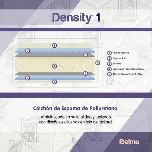 colchón sommier belmo density 1 1 plaza 190x80x14