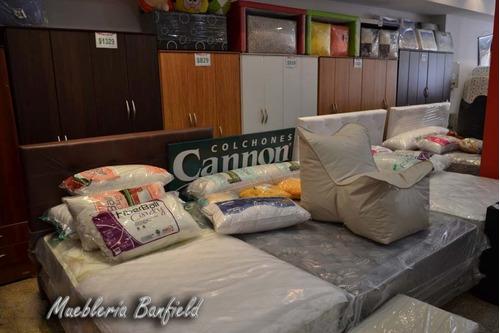 colchon + sommier cannon doral con pillow king 1.80 x 2.00