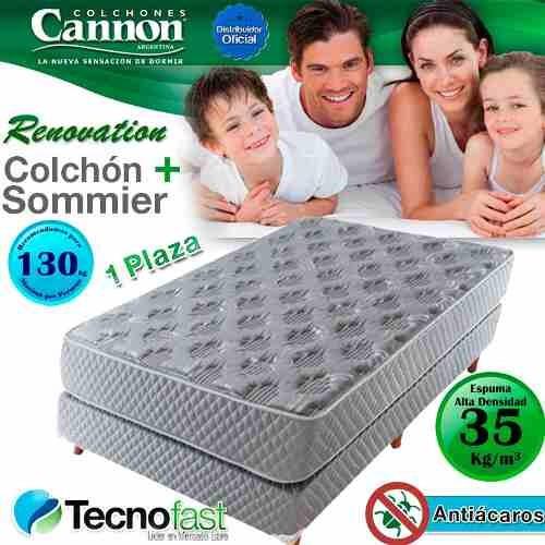 colchon + sommier cannon espuma renovation 80x190