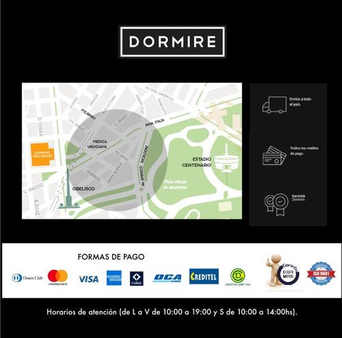 colchón + sommier resortes pocket amore 2 plazas 140 x 190