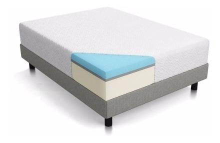 colchón & sommier sensorial fit memory espuma 200x200 dct