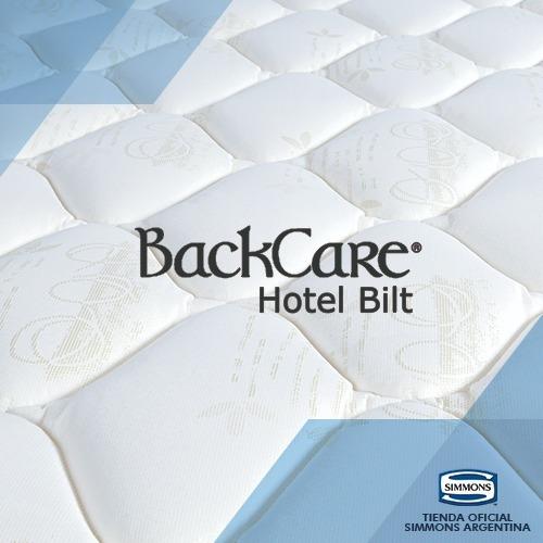 colchón sommier simmons backcare hotel bilt 2 plazas 190x140