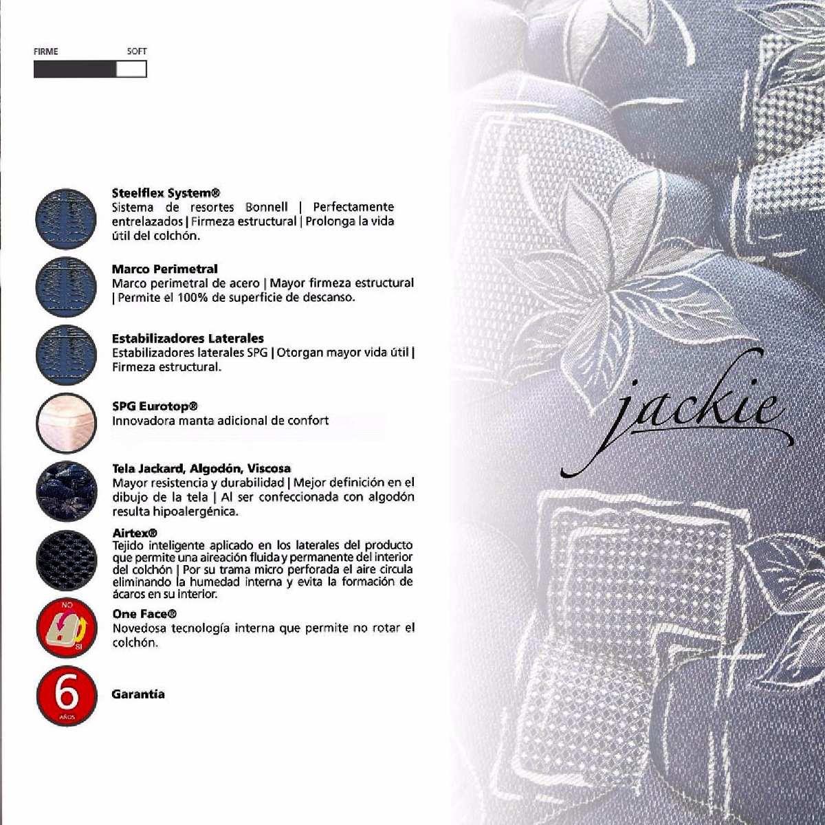 Conjunto Colchón Y Sommier Springwall Jackie 2 Plazas Cuotas ...