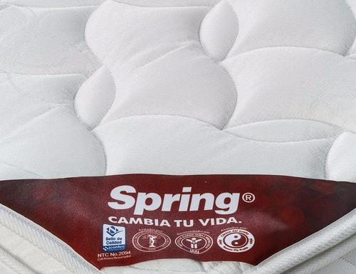 colchon spring pillow top semidoble 120x190