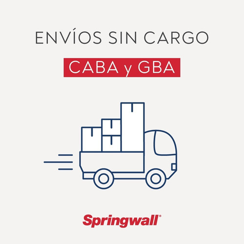 colchon springwall ml 01 - 2 plazas 140x190