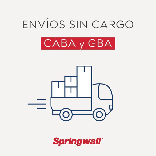 colchon springwall one - 1 plaza 080x190
