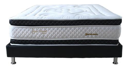 colchón super dream ortopédico doble dormilandia+base cama