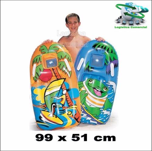 colchon tabla de surf inflable niños bestway 99x51cm 42008