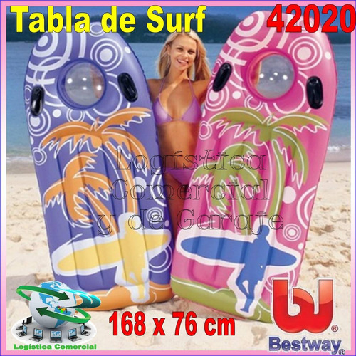 colchon tabla palmera inflable bestway playa 42020