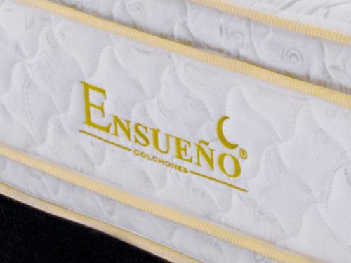 colchón titan gold maxi pillow 1.40 x 1.90 + basecama negra