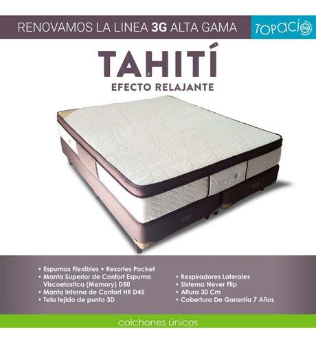 colchón  topacio 3g tahití c/pillow viscoelástico 160 x 200