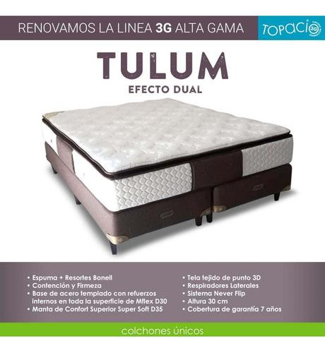 colchón topacio 3g tulúm 1,40 x 1,90 envío c.a.b.a. gratis.