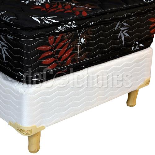 colchón una plaza espuma inducol pyxis black edition 80x190