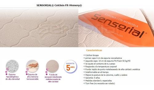 colchon viscoelastico 2 plazas densidad 50kg/m3 simil latex